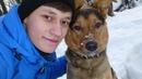Влог в лесу, собака спасла человека, потому что она друг.