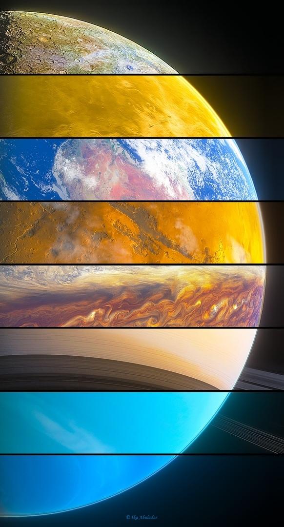 Все 8 плaнет Солнечной системы в одной фотографии