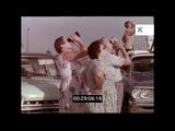Crowds Celebrate John Glenn Orbiting the Earth, 1962, USA, HD