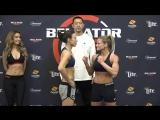 Rebecca Ruth vs. Juliana Velasquez - Weigh-in Face-Off - (Bellator 197)