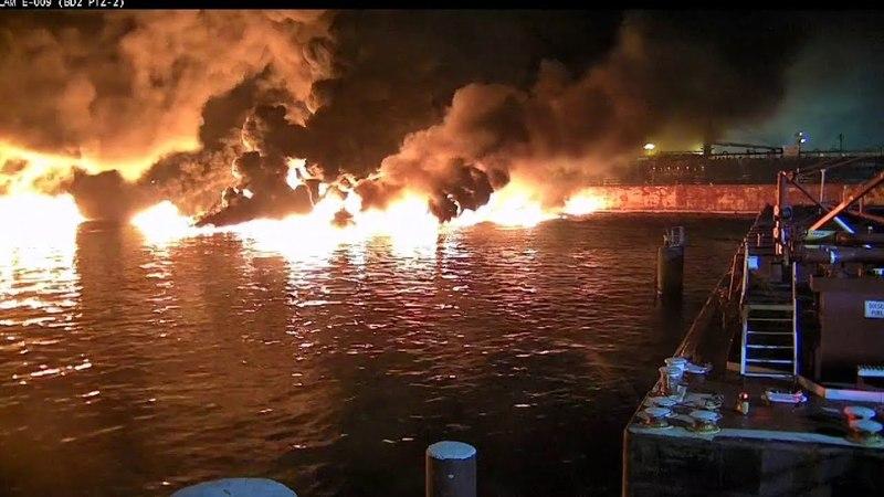 Tanker Aframax River Hits Mooring, 88,000 Gallons Of Oil Burn