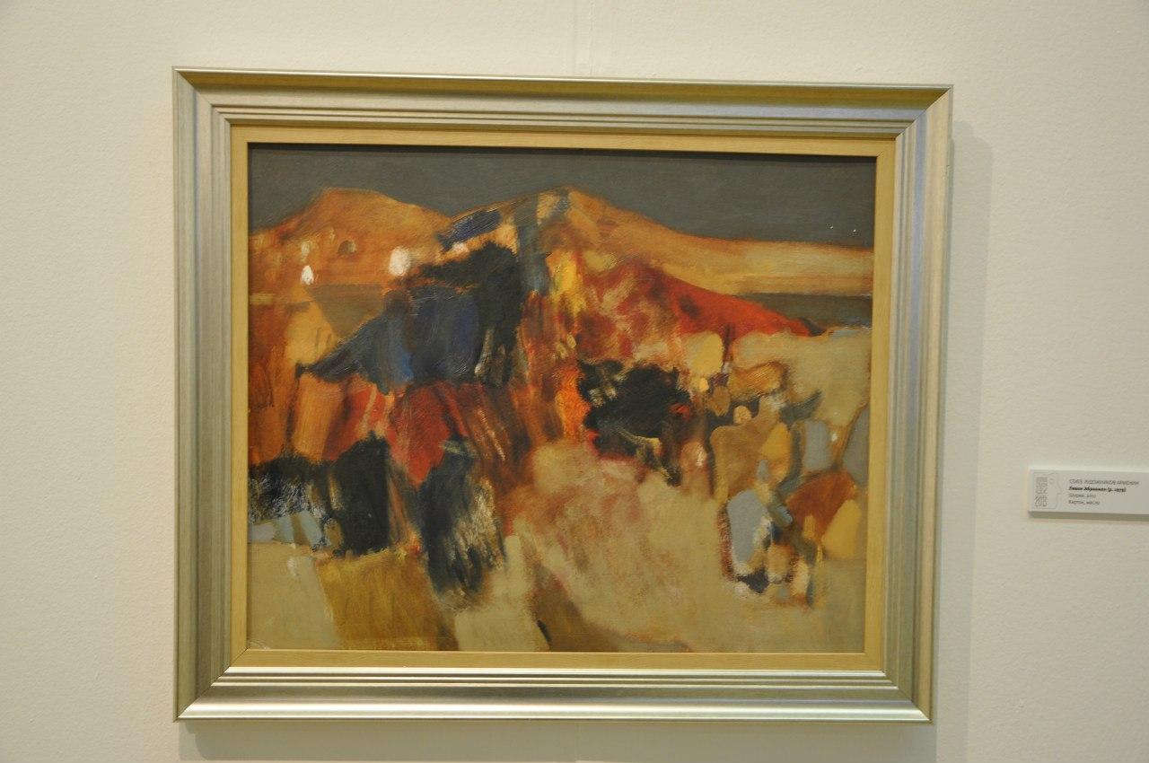 Союз художников Армении  Левон Абраамян (р. 1979)  Шоржа. 2011  Картон, масло