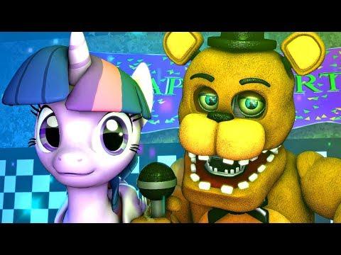 Five Nights at Freddy's My Little Pony   Twilight Sparkle (FNAF MLP)(Music 4K SFM)
