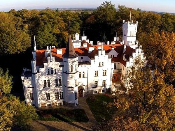 Pałac Sulisław z lotu ptaka