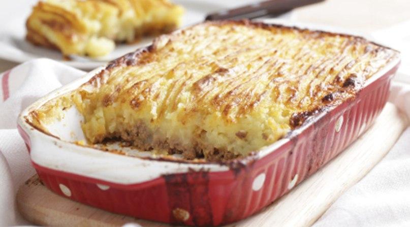 Картофельная запеканка с мясом калории