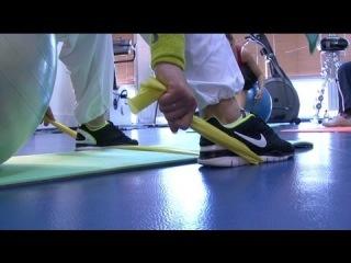 Грыжи поясничного отдела: упражнение для растяжки и укрепления мышц поясницы. Фрагмент занятия.