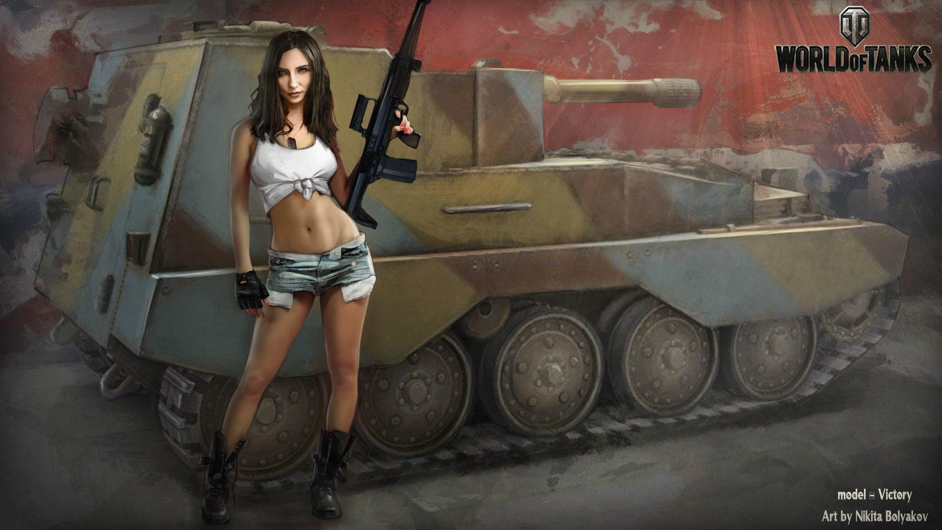 Фото девушка на танке 12 фотография