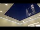 Двухуровневый натяжной потолок с контурной подсветкой от компании Репа