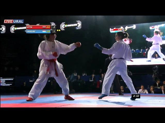Attia Yassmin (EGY) - Warling Jenny (LUX) Gold medal fight Karate1 Premier League, Tyumen 2013