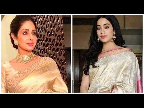 Джанви Капур одела сари мамы Шридеви на Национальной кинопремии.