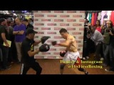 Sergio Martinez Workout Highlights from Modell's in NYC 6.2.13