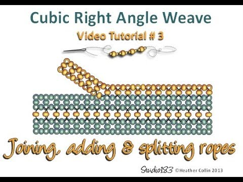How to bead - extra CRAW rows off an existing CRAW rope