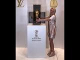 В гостях у @louisvuitton и рядом с тем самым кубком FIFA который сегодня вечером достанется Чемпионам Мира