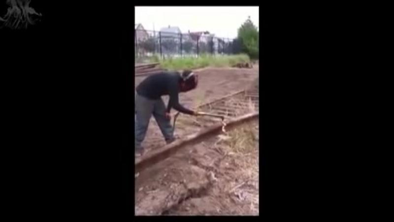 Как разрезать рельсу, мастер класс от сварщика профи