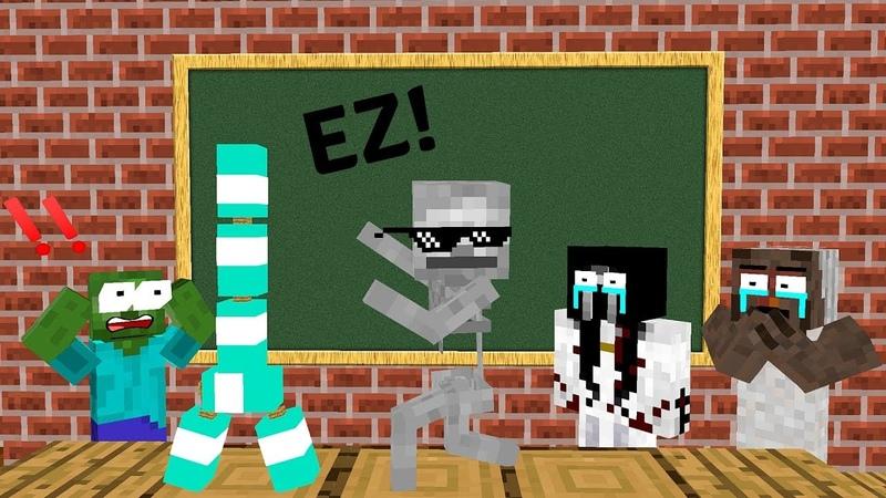 Monster School: BOTTLE FLIP CHALLENGE VS GRANNY SLENDRINA BALDI'S BASIC - Minecraft Animation