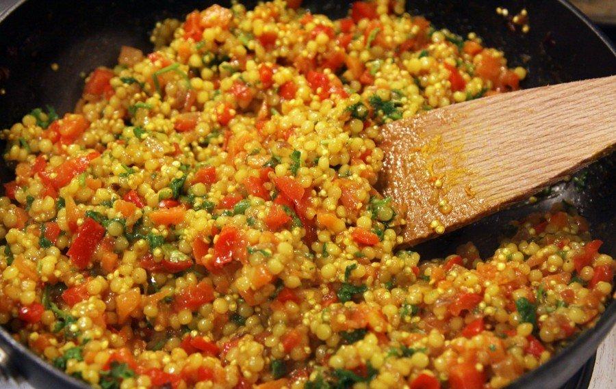 Кус-кус с овощами и петрушкой Ингредиенты: Кус-кус — 300