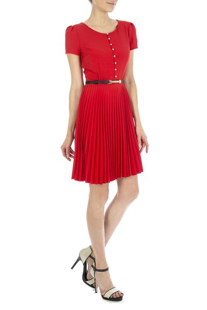 Красное платье от золла