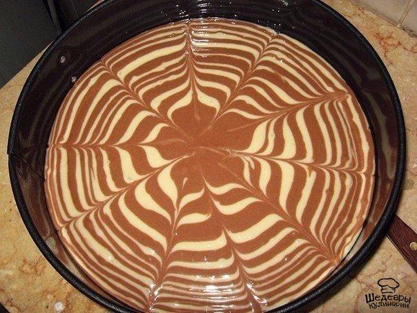 Пирог зебра рецепт с пошагово в домашних условиях в духовке на сметане