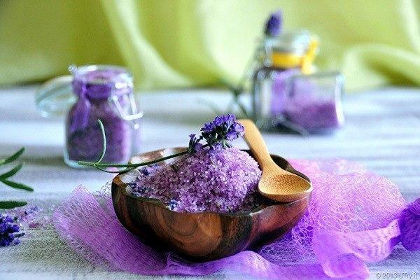 Лавандовая соль для ванн -