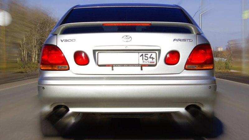 Toyota Aristo V300 2JZ-GTE разгон 0-100 на полуслике