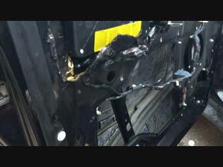 BMW X5 e53. Аудиоподготовка передней двери. Часть 1.