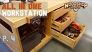 Workbench with power tools storage ALL IN ONE woodworking station P4