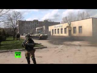 Новое  Донецкий дрифт, ополченцы сделали на БМД  16 04 2014