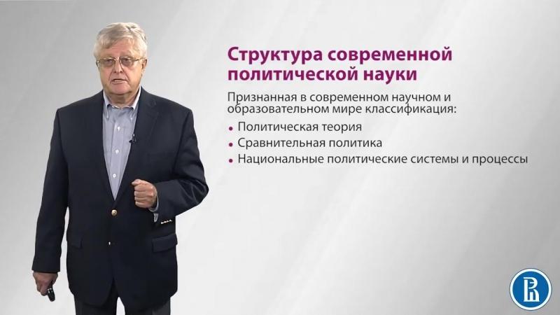 1.5 Структура современной политической науки - Андрей Мельвиль.