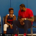 Bleacher Report on Instagram @kingjames sharing a moment with Bryce after he came up big for his team is what its all about