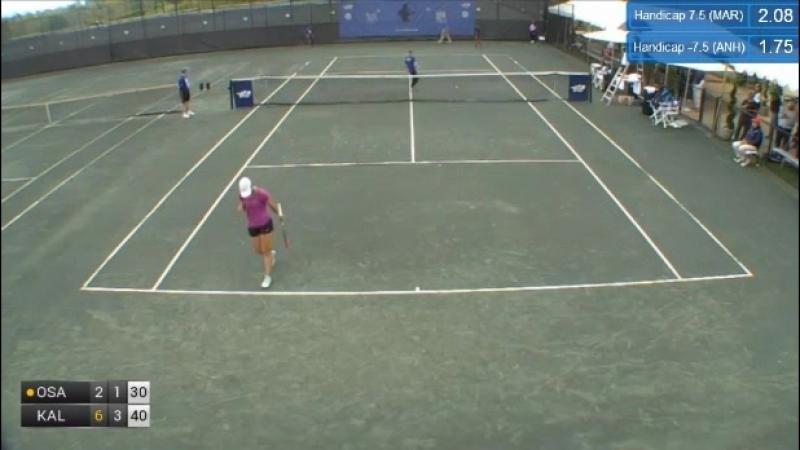 ITF Women Charlottesville 80k QF 2018 M Osaka vs Kalinina Part 1