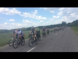 Встреча колонны велосипедистов перед Шарпиловкой на день Велосипедиста 03.06.2018