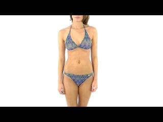 Solar Women's Tan Thru Missoni Blue Bikini Set | SwimOutlet.com