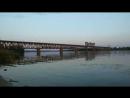 Вл82м  з Поездом 793 Харьков- Тараса Шевченка следует по мосту через реку Днепр.