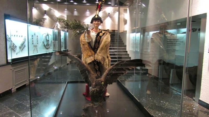 Экспозиция принцессы Укок. Горно-Алтайский краеведческий музей.