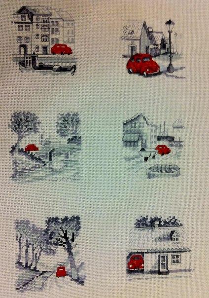 Схема для вышивки лондонский автобус 63