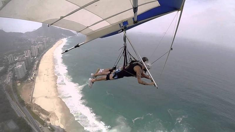 Полёт на дельтаплане в Рио-де-Жанейро.