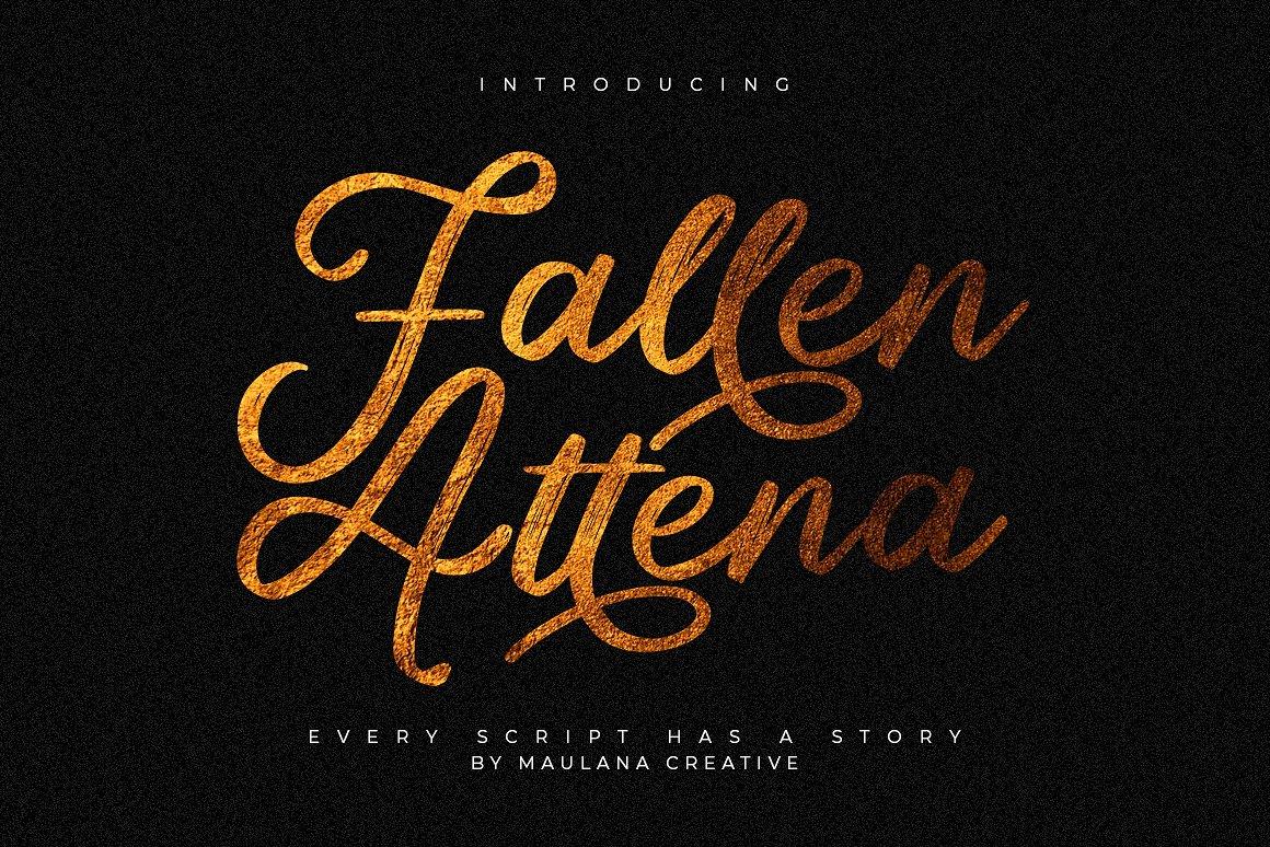 Шрифт - Fallen Attena