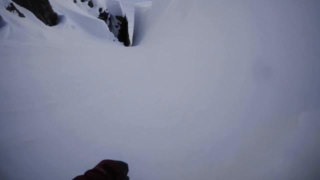 Crazy mountain snowbording