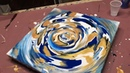 Fluid Painting Acrylic STRING SPIN Technique!! Wigglz Art Awesome Results!! Please Share