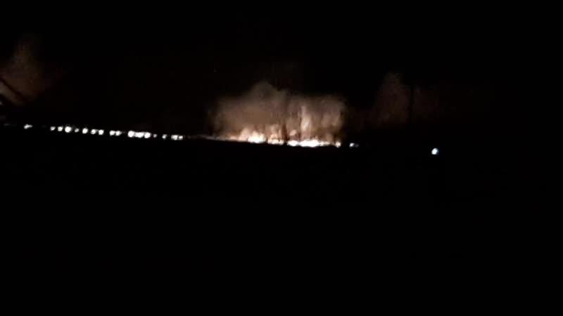 Крупный пожар в Сосновском районе