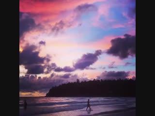 Закат на пляже Ката 21.10.2018