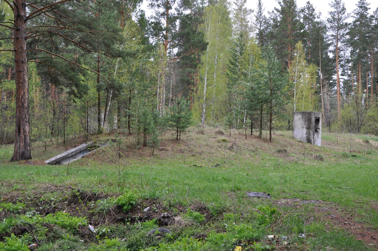 Бункер связи в лесу