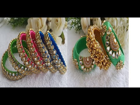 Ideas Of Decoration Silk Thread Bangles With Latest Kundas