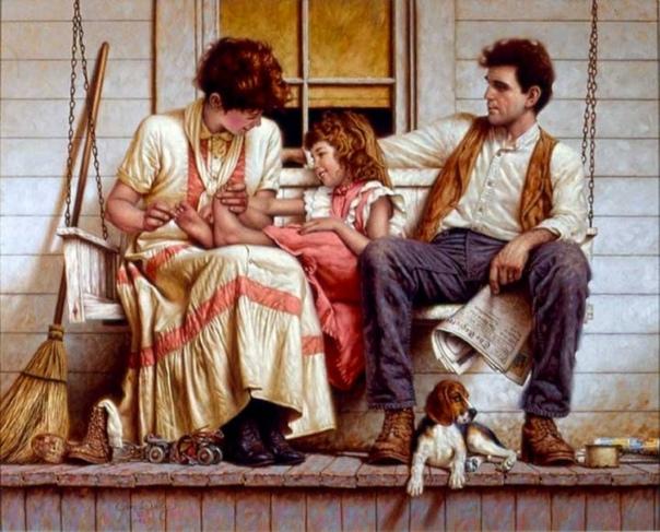Джим Дэйли — сентиментальный художник из США. Лучший период его творчества относится к периоду, когда его жена была молода, а дети малы — именно они были источниками его творческого вдохновения.