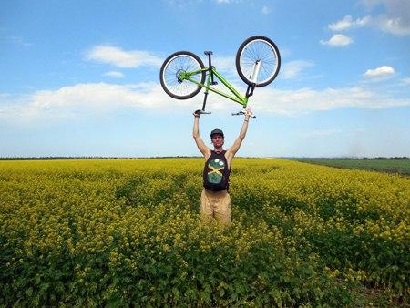 День выборов на велосипеде. Прекрасная майская велопокатушка к ручаевскому карьеру (Запорожье, Украина)
