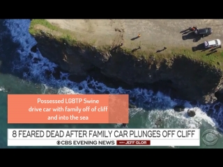 Possessed swine adoptive parents drive family off of a cliff to their death