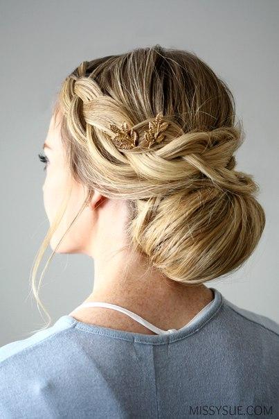 Вечерняя причёска своими руками (6 фото) - картинка