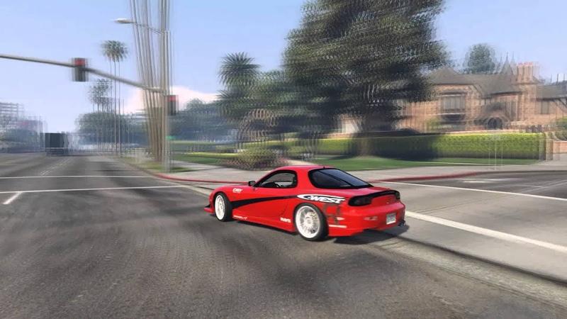 GTA V Freestyle Drifting RX7 C West