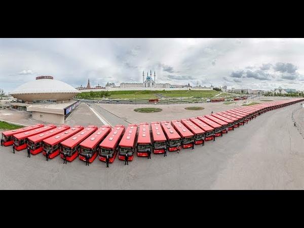 В Казань поступила партия из 94 новых низкопольных автобусов МАЗ