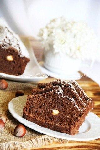 Постный шоколадный манник с орехами